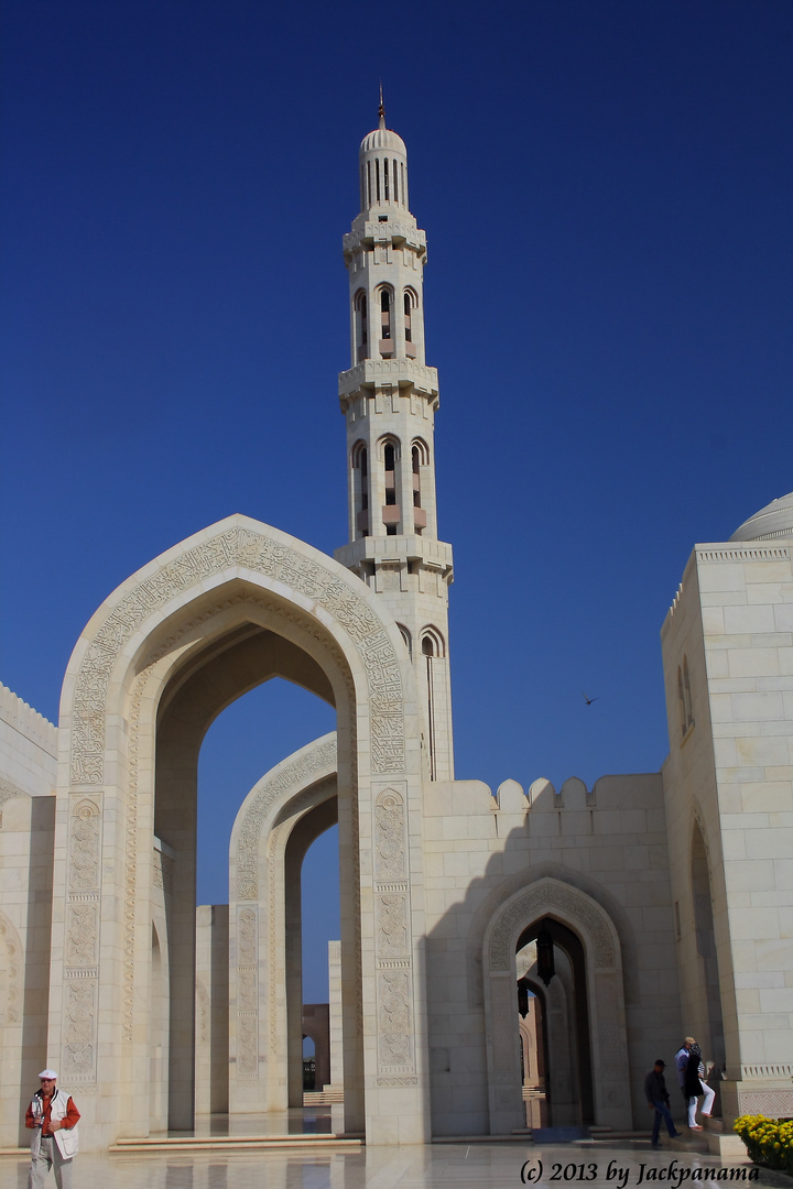 Besichtigung der Sultan-Qaboos-Moschee in Muscat (Sultanat Oman) (9)