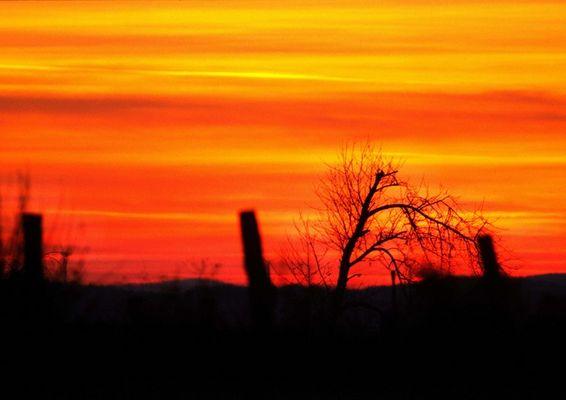 Besinnlicher Sonnenuntergang