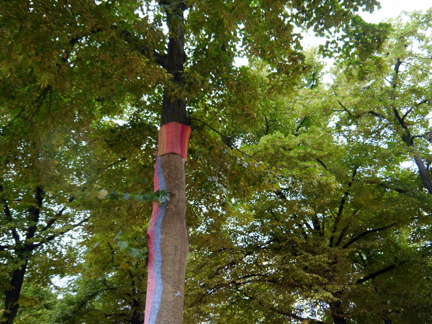 bestrickter Baum