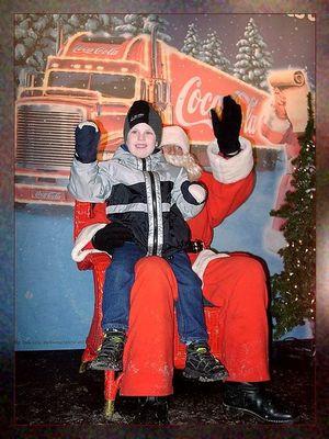 Besuch beim Coca-Cola-Weihnachtsmann