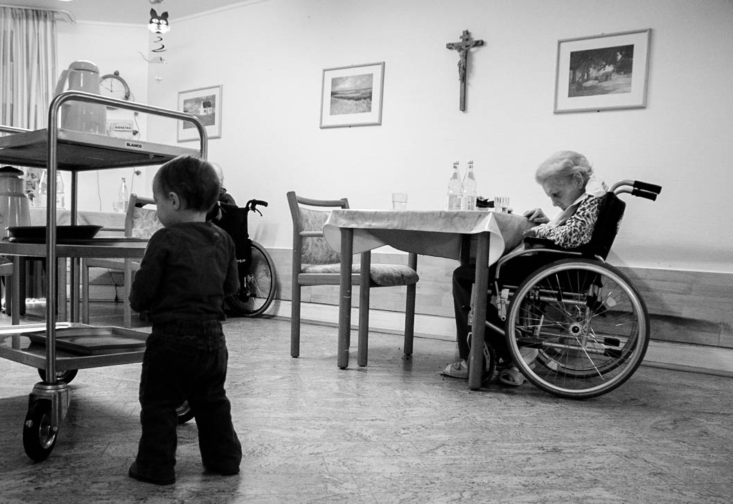 Besuch im Pflegeheim