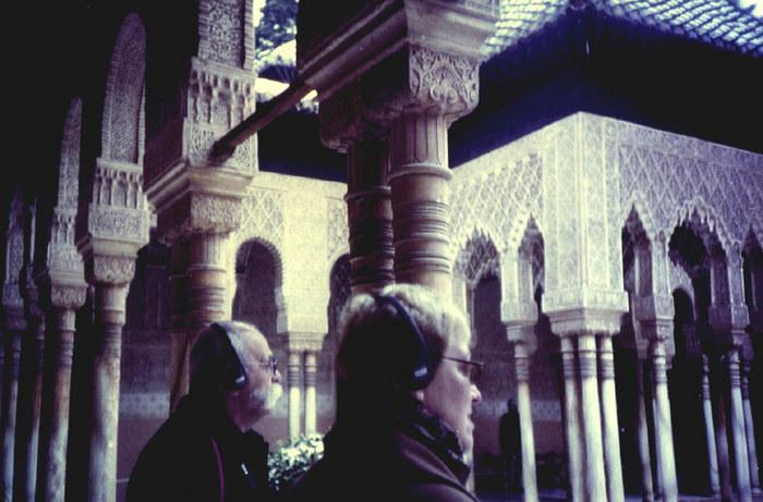 besucher der alhambra