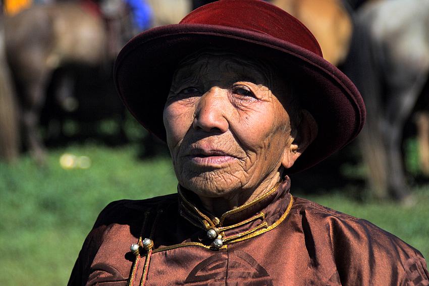 Besucherin auf dem Naadamfest 9. Juli 2008