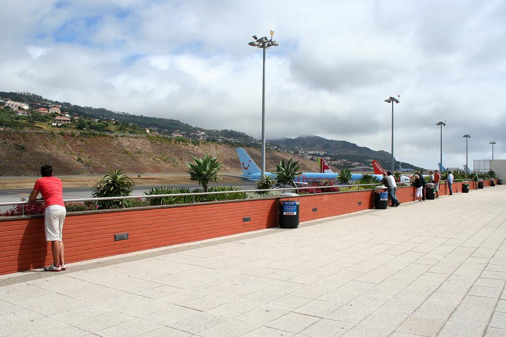 Besucherterrasse Madeira Flughafen