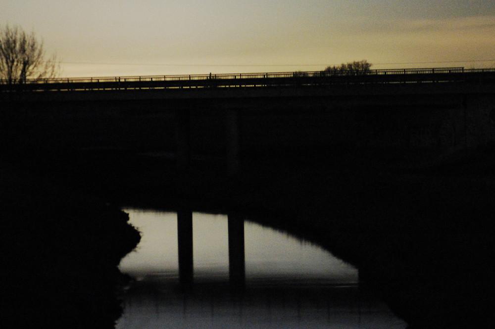 Betonbrücke über der Werse