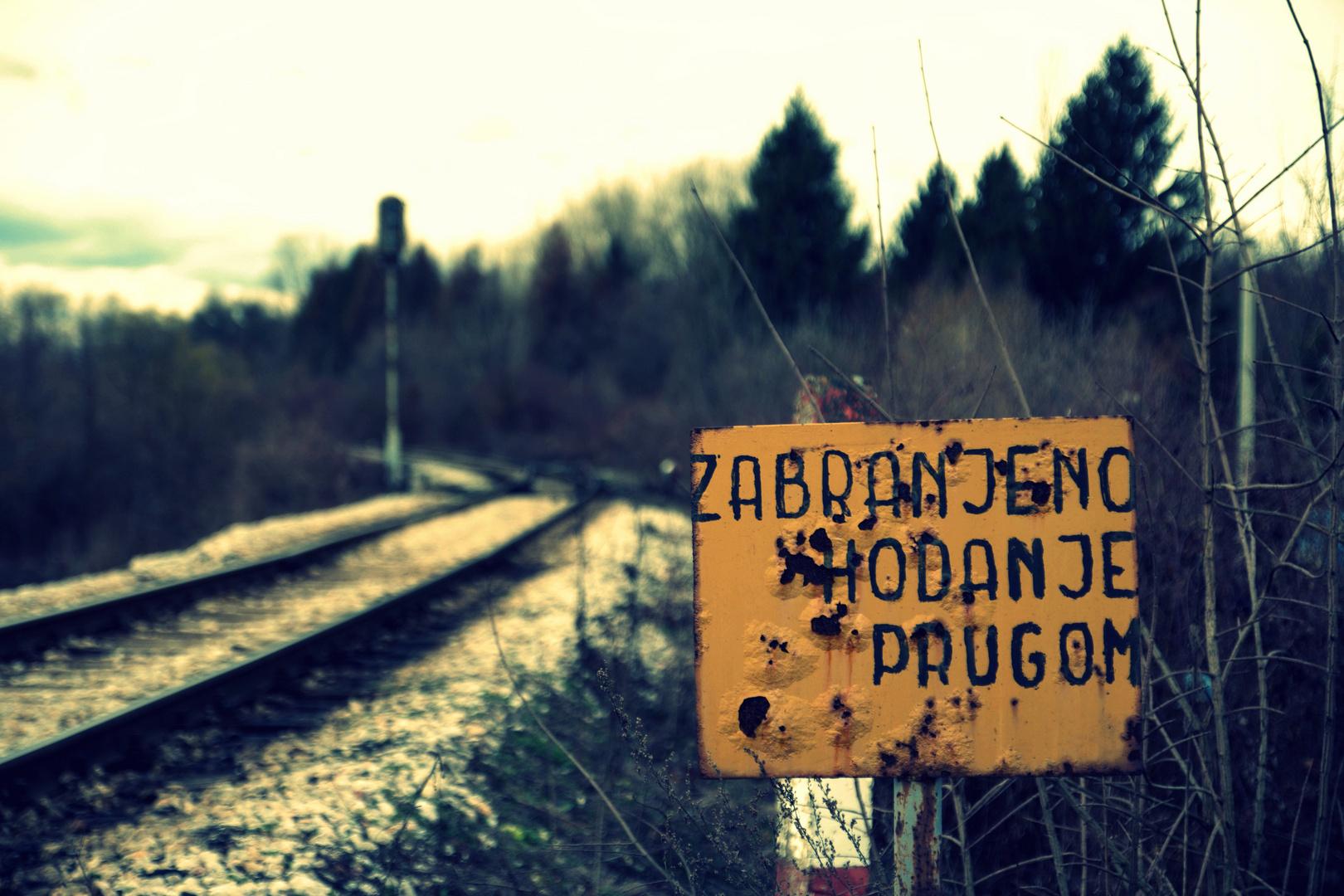 Betreten der Bahnanlagen verboten