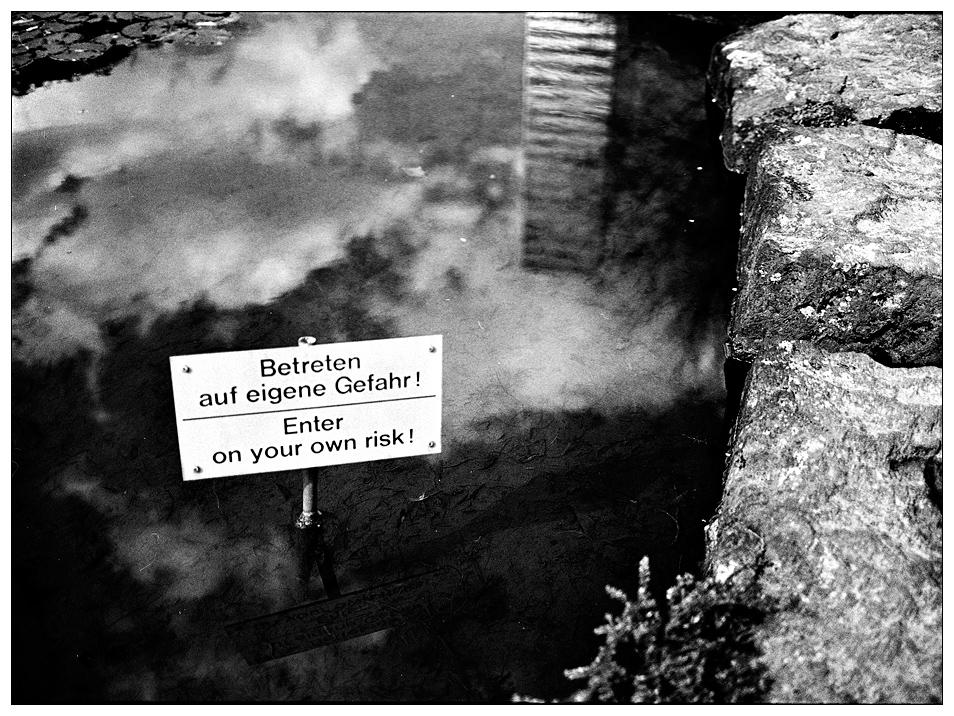 ... betreten verboten ...