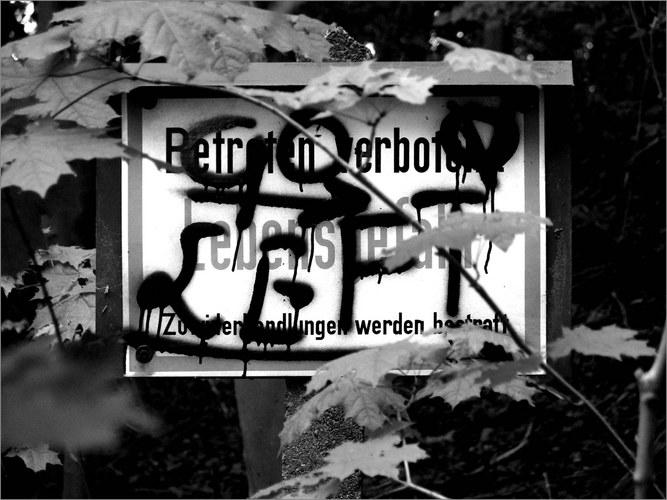 Betreten Verboten! Lebensgefahr - Go Left