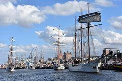 Betrieb im Rostocker Stadthafen zur Hanse Sail 2017