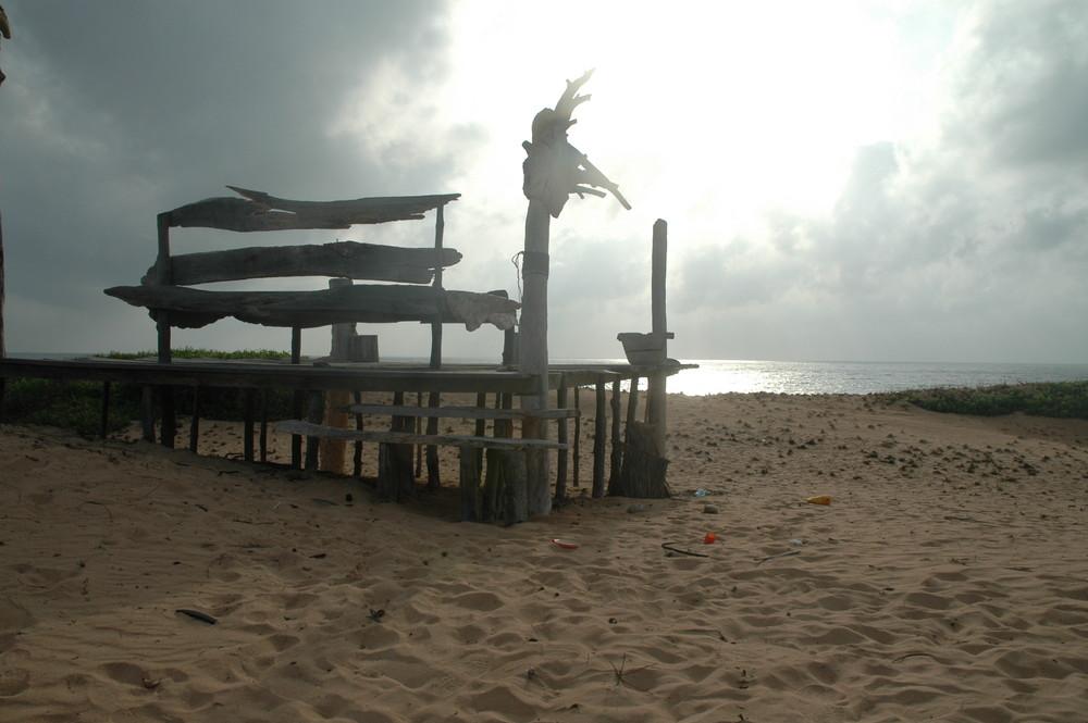 Bett am Turtle Beach