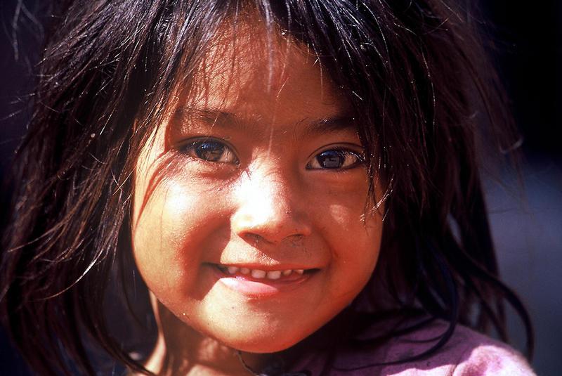 Bettelndes Kind, Pashupatinath, Nepal