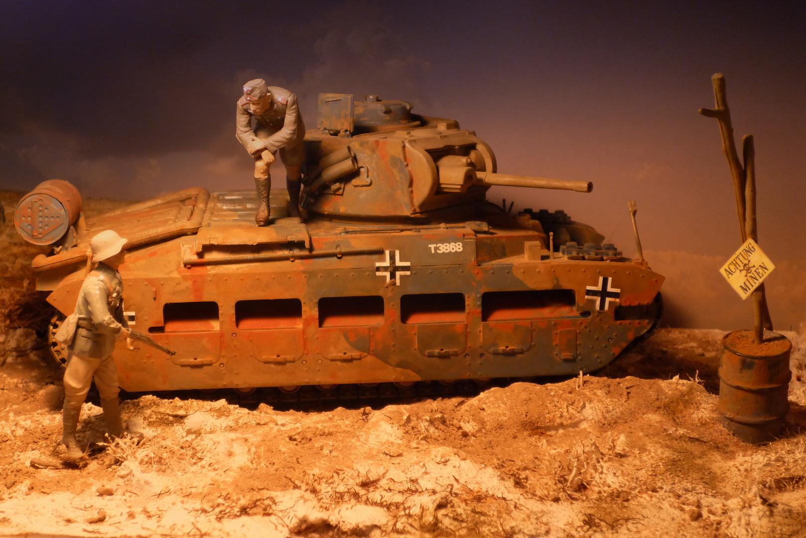 Beutepanzer - Englischer Mathilda in deutschen Diensten