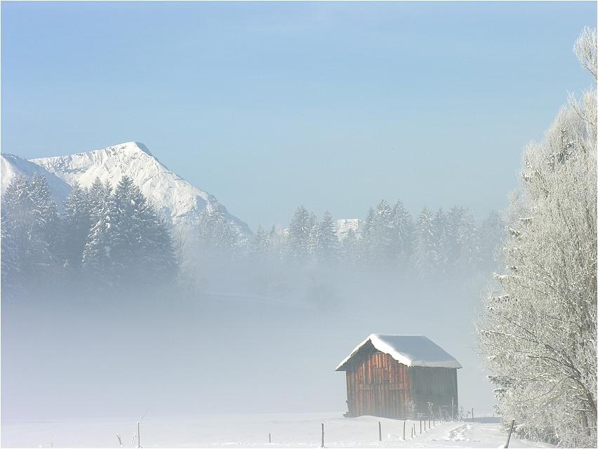 ... bevor die Nebelschleier steigen ...