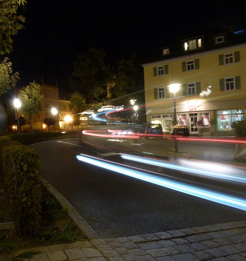 Bewegung bei Nacht in Cobnurg