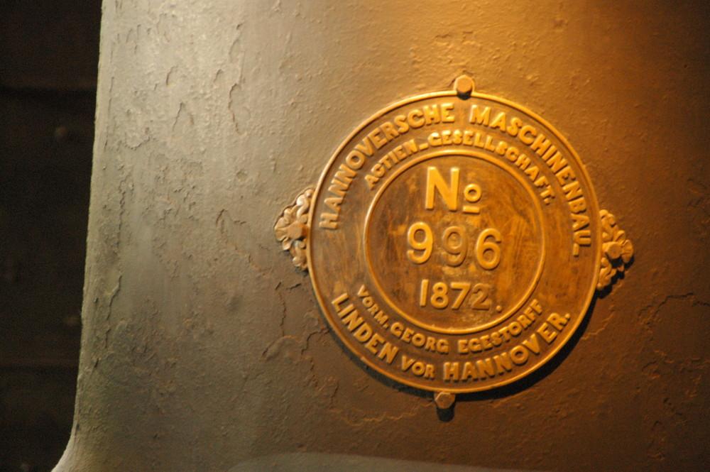 Bezeichnung an einer historischen Lok - Technisches Museum Berlin
