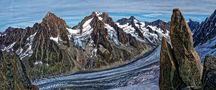 Le glacier d'Argentière dans le massif du Mont-Blanc von jonquille80