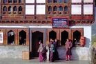 Bhutanese shoppers in Paro