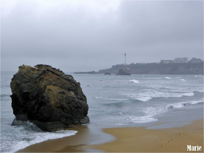 Biarritz, les pieds dans l'eau