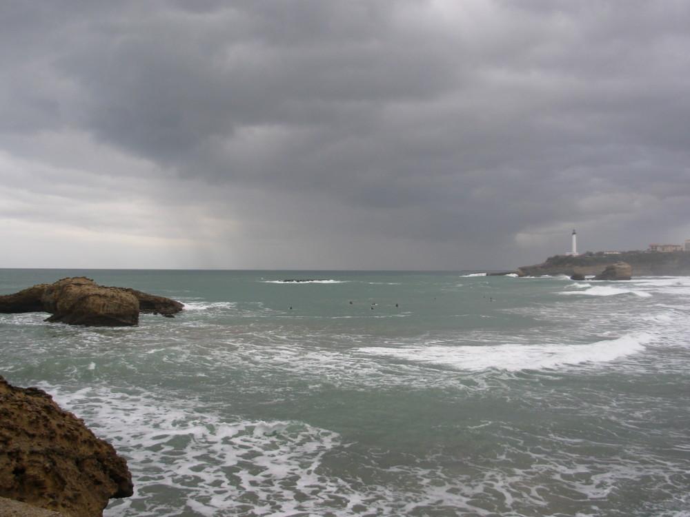 Biarritz par temps d'orages