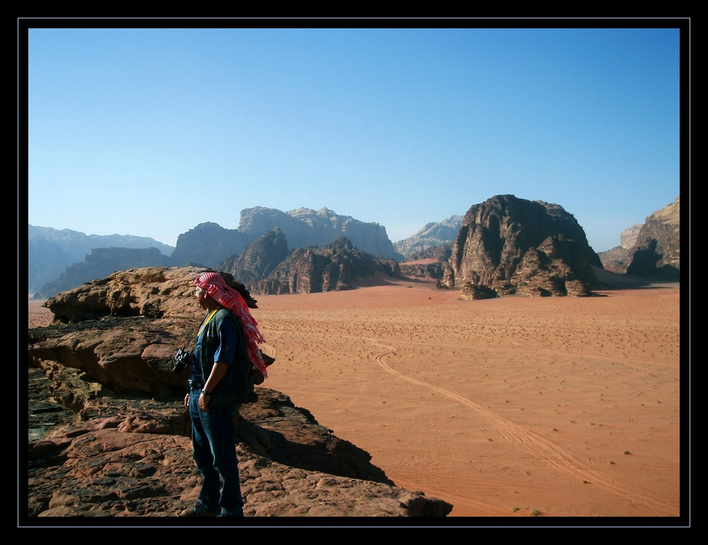 bibi dans le désert du WADI RUM