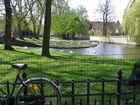 bicicleta en el lago