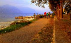 Biciclettando lungo il lago di Garda....