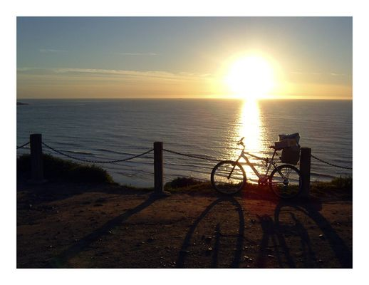 Bicycle on Pacific Cliffs - San Diego