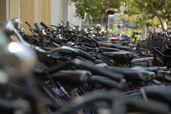 Bicyclettes de Pondichery (Inde)