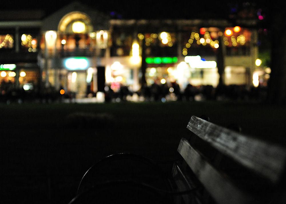 Bielefelder Ratscafé bei Nacht