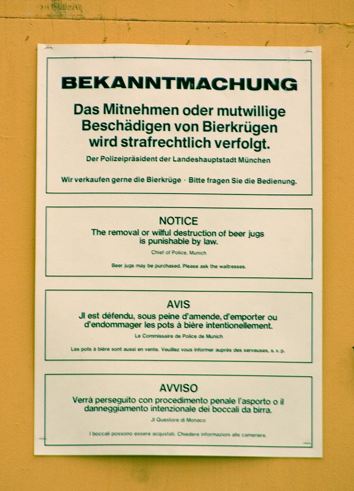 Bierkrug-Regeln