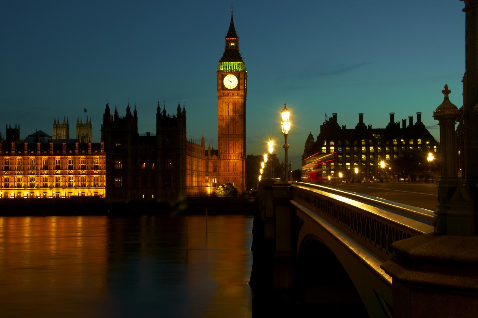 Big Ben Nachts,