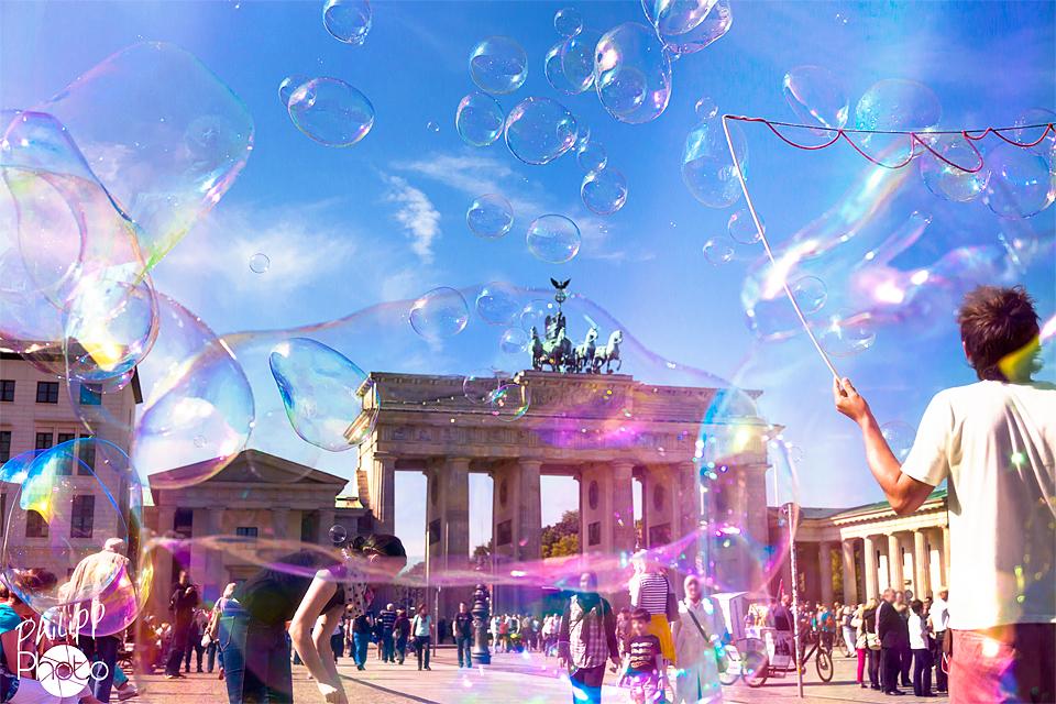 Big Colored Air Bubbles