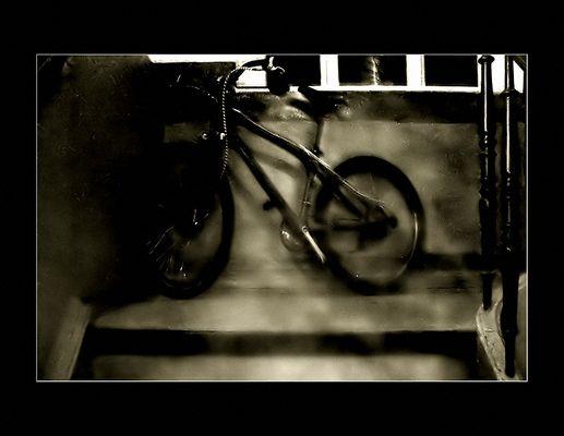 bike, hausflur, tür