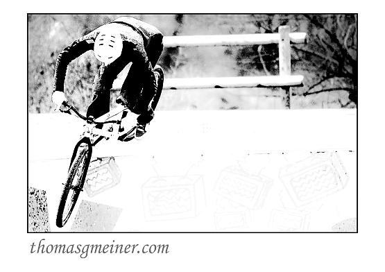 Bike in der Halfpipe