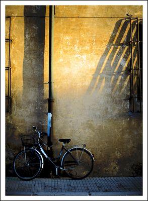Bike under shadows
