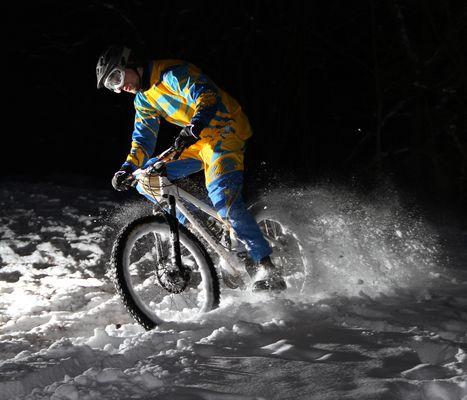 Biken im schnee!