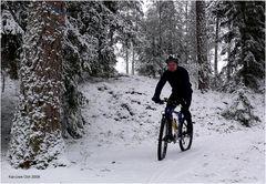 Biken im Schnee macht Spass...