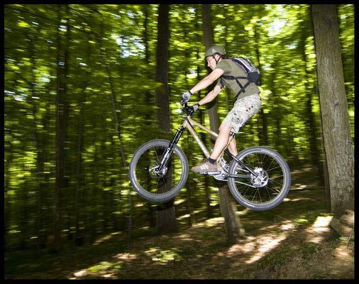 Biken im Wald - 2
