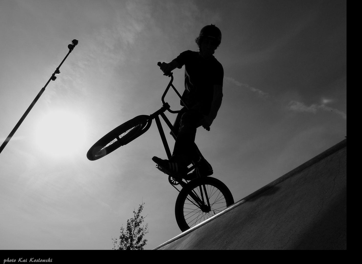 Biker beim Sport