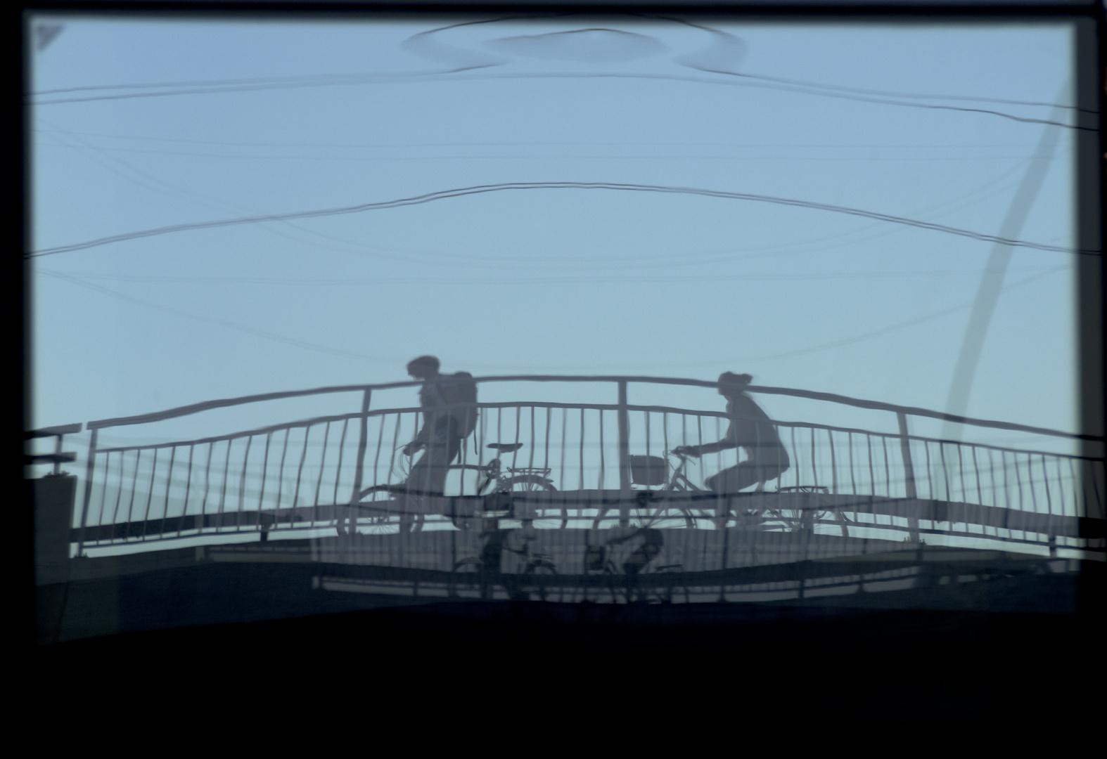 Biker im Spiegelbild