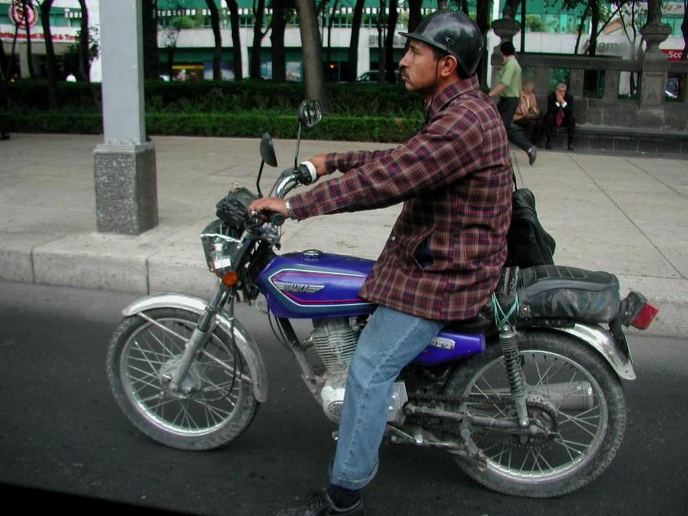 ...Biker in Mexico City...