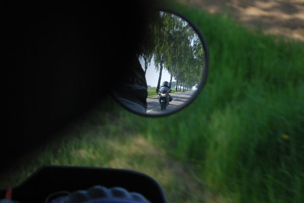 Biker unterwegs am Niederrhein