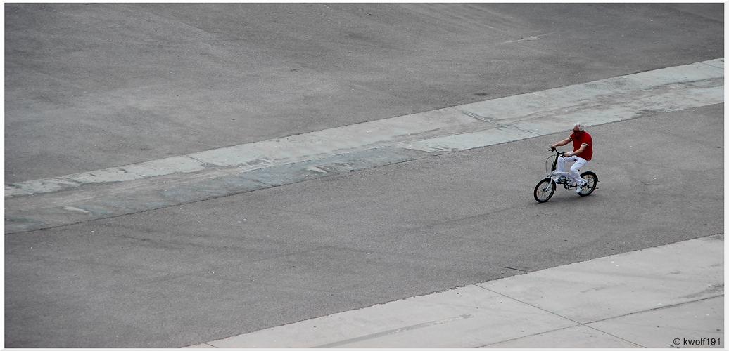 ...biking...