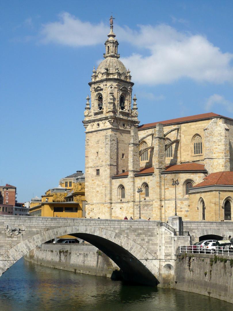Bilbao, Puente e iglesia de San Antón, marzo 2009