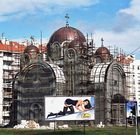 bilboard and curch in Belgrade