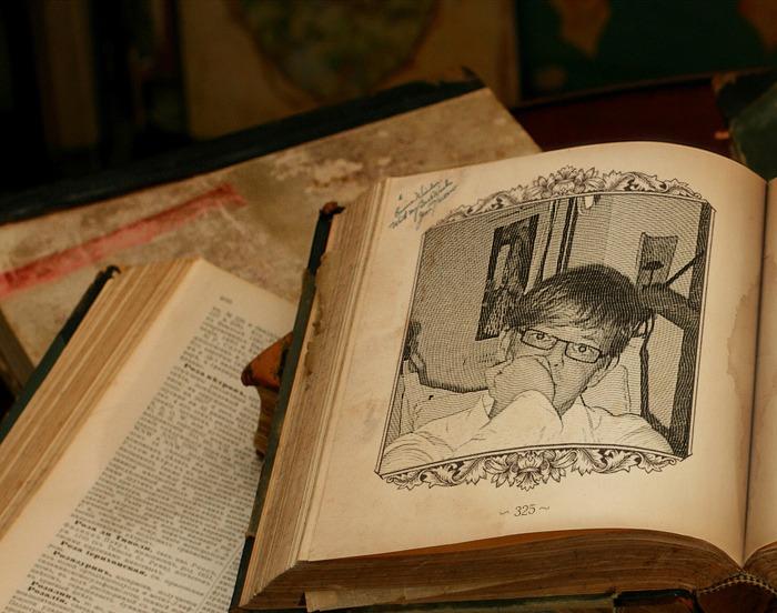 Bild im Buch