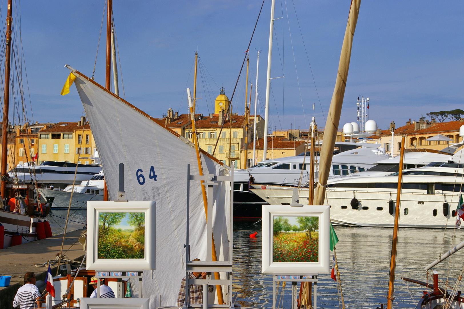 Bilder im Hafen von Saint Tropez