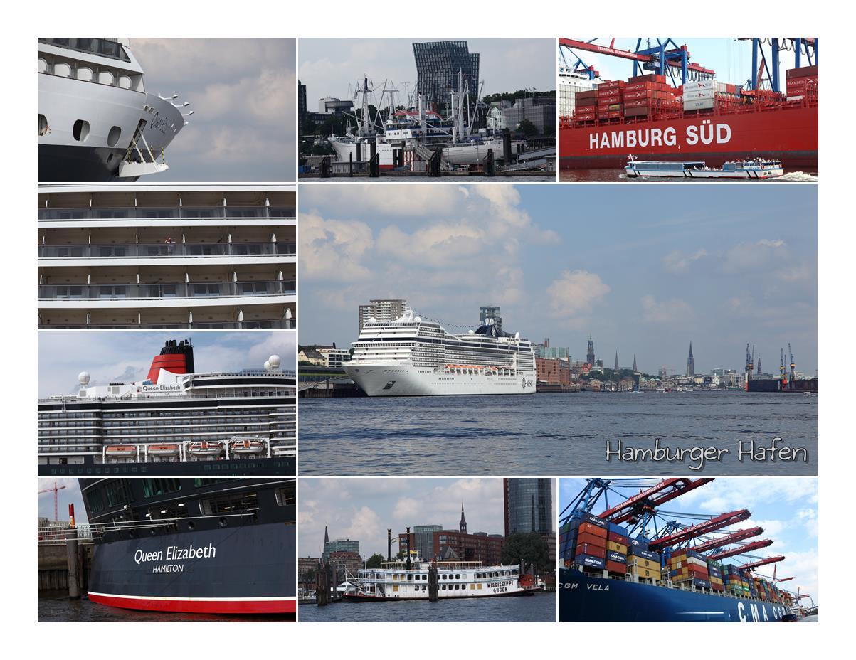 Bilderbogen Hamburger Hafen