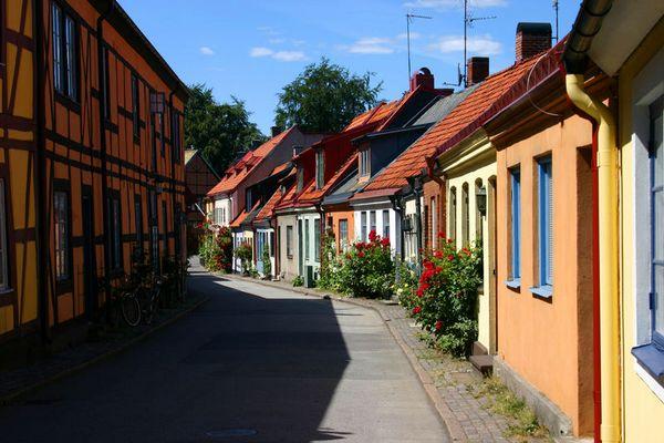 Bilderbuchstraße in Ystad