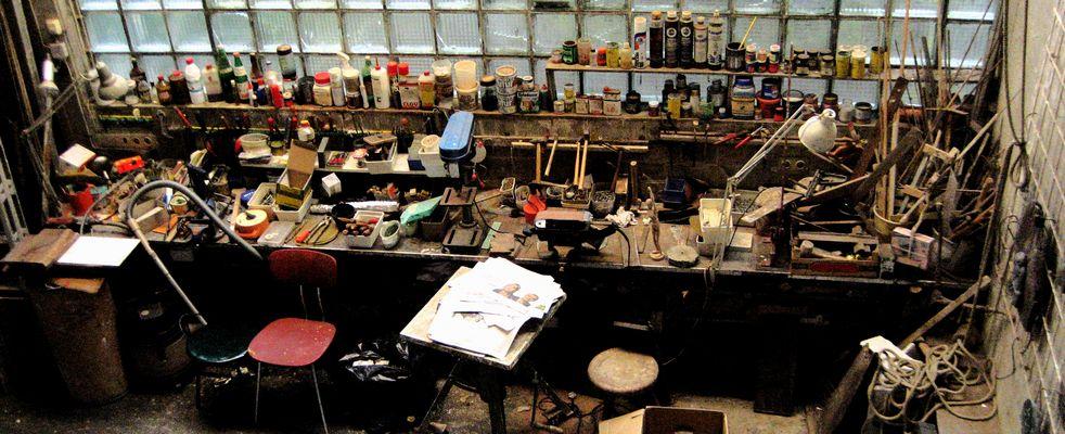 Bildhauer-Werkstatt